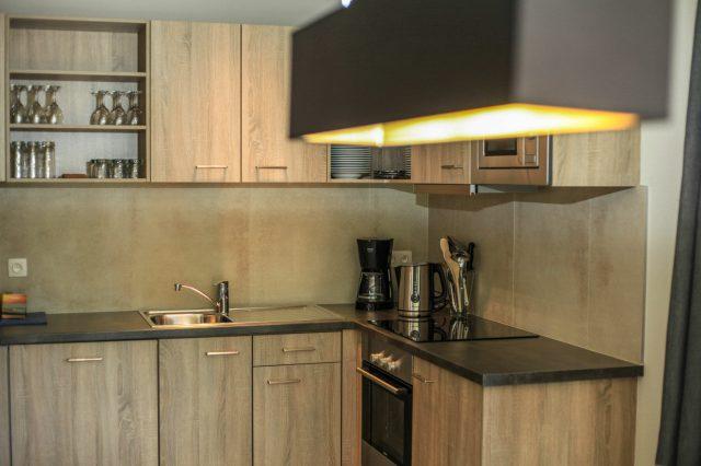 Azur en Ardenne appartement keuken