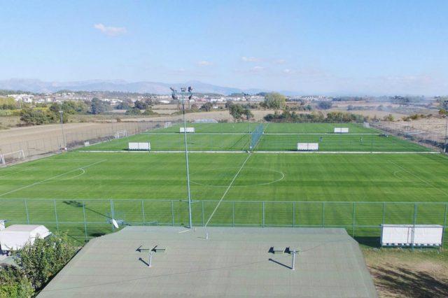 Hane sportcomplex overzicht velden