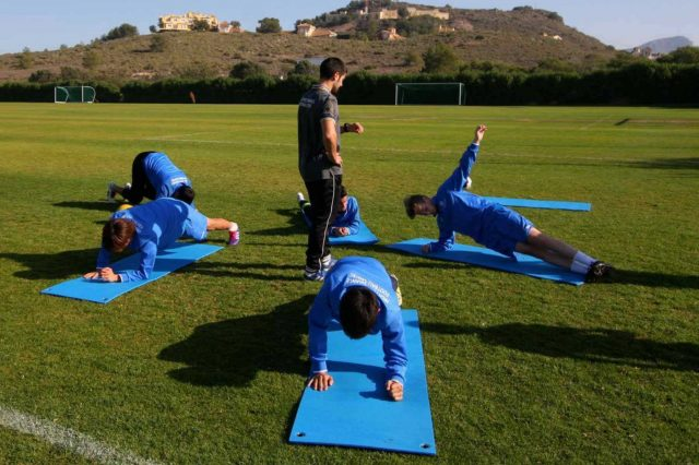 Voetbal training La Manga